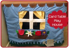 Nap Time Crafters: Card Table Playhouse
