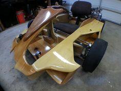 Wooden Go Kart, Homemade Go Kart, Diy Go Kart, Wood Bike, Pedal Cars, Painted Floors, Electric Cars, High Gloss, Cool Kids