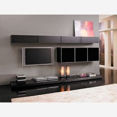 I love wall units like this.  Grand Wall Unit Wenge now featured on Fab.