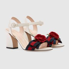 Gucci Leather mid-heel sandal  #gucci #guccisandal #fashion #fashionstyle #stylish
