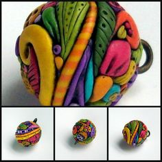 Enchanted Garden Ball Polymer Clay Pendant by MandarinMoon on DeviantArt