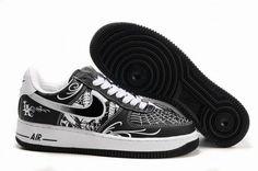 59e75a73910 Achat En Gros Nike Air Force 1 Low Cuir Pour Homme Baskets Blanc Noir2014 Air  Force