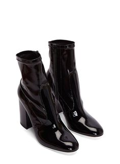 Women's Boots - Shoes | Discover Now LN-CC - Patent Block Heeled Ankle Boots