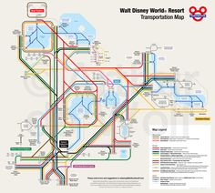 Walt Disney World Resort Transportation Map