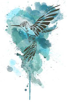 Hummingbird Drawing Heart