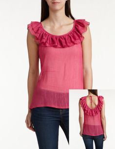 I LOVE the back part and also the cute ruffles at the front neckline and also the colour!