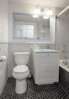 Nyc condo bathroom remodeling: eek to sleek apartment therapy downstairs ba