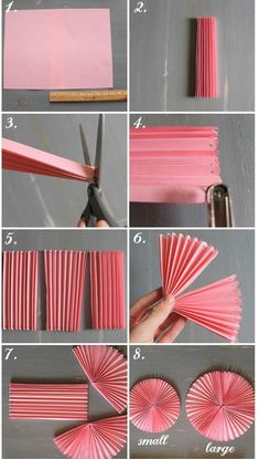 How to DIY Easy Beautiful Paper Rosettes – DIY Tutorials DIY Party decor Related DIY Basteln zum Valentinstag für Kinder - Lolly Brilliant Crafts To Make And Sell For Extra Cash. Diy Party Decorations, Paper Decorations, Diy Party Fans, Homemade Birthday Decorations, Office Birthday Decorations, Paper Wall Decor, Housewarming Decorations, Diy Simple, Easy Diy