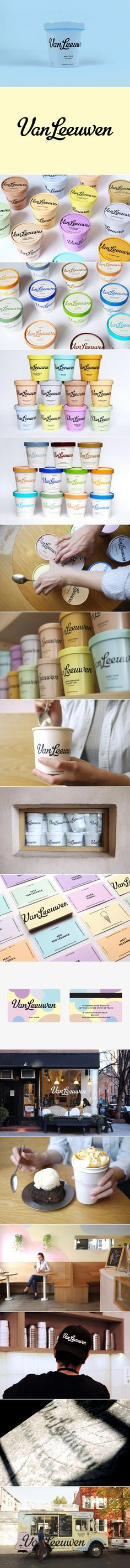 The Graphic, Gorgeous New Look of Van Leeuwen Artisan Ice Cream — The Dieline | Packaging & Branding Design & Innovation News