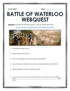 I Need Help With My History Essay On The Battle Of Waterloo!!!!!!!!!?