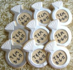 Personalized Diamond Ring Cookies  Diamond Ring by lorisplace, $41.99