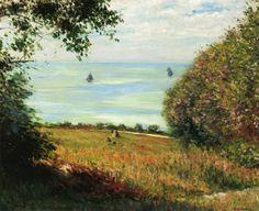 Gustave Caillebotte, Vista del mar desde Villerville, 1882. Óleo sobre lienzo, 59.7 x 73.7 cm, Colección particular