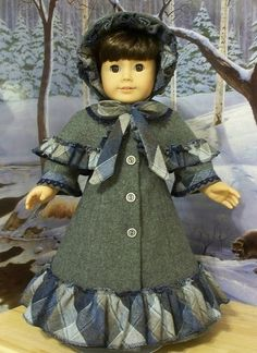 Victorian Caroler's Ensemble- made to Fit American Girl Smanatha by Keepersdollyduds, via Flickr