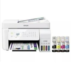 $305.0 Only! ~ Epson WorkForce ET-4700 EcoTank Printer, Sublimation Paper, Sublimation Ink CLICK HERE! #CheapPrinter, #PrinterScannerCombo, #CheapPrinterLaser, #WirelessPrinterSale, #PrinterScannerSale, #PrinterCopierSale, #UsedPrinter Epson Ecotank, Paper Tray, Printer Scanner, Chromebook, Microsoft Windows, Bottle Design, One Color, All In One, Ebay
