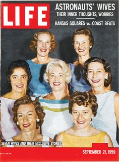 On this day in LIFE magazine — September 21, 1959: Astronauts' Wives - Their inner thoughts, worries  See more photos here.