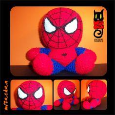 HOMBRE ARAÑA - Juguete Amigurumi - Aldea Spiderman, Superhero, Fictional Characters, Amigurumi, Men, Spider Man, Fantasy Characters, Amazing Spiderman