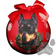 Miniature Pinscher Min Pin Shatterproof Dog Breed Christmas Ornament