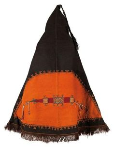 Ait Ouaouzguite Berber man's ceremonial mantle (akhnif), Jebel Siroua region, Morocco  | ca. early 20th century