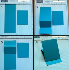 Steps 1-4 of Std. A2 card instructions