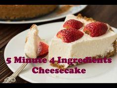 Easy No Bake Cheesecake – Page 2 – Desserts Corner Easy No Bake Cheesecake, Baked Cheesecake Recipe, Cheesecake Desserts, Strawberry Cheesecake, Quick Dessert Recipes, Easy No Bake Desserts, Baking Recipes, Easy Recipes, Pizza