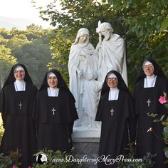 2017 July Ceremonies – Four Sisters professed their first vows. #DaughtersofMary #DaughtersofMaryPress #Catholic #ReligiousSisters