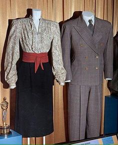 Bergman's and Bogart's costumes from Casablanca