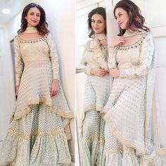 June, 2019, #ss19 @divyankatripathidahiya's instagram: Whatever I wear, wherever I go, you can't pull the #Bhaartiya out of me. #BhaartiyaNaari Outfit @kalkifashion Styled by @stylingbyvictor Assisted by #sohailmughal Makeup @manoj.regina @sharukh_khan902_ Hair @zahhida_hasan @avinash__501 Sharara Gharara Sets #sharara #gharara #desifashion #indianfashion #bollywoodfashion #pakistanifashion #divyankatripathidahiya #divyankadahiya @ #instagram via @sunjayjk