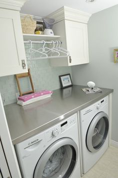 Great space saver for those closet laundry rooms!