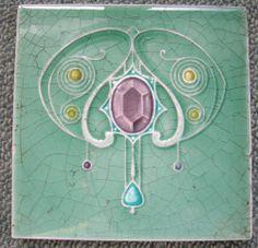 Antique Art Nouveau Tile   eBay