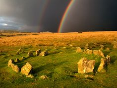 Google Image Result for http://www.cadover-image-and-video.co.uk/wordpress/wp-content/uploads/2011/02/Yellowmead-stone-circle-Dartmoor.jpg    I've not been to this one but it reminds me of the Barbrook circles in Derbyshire.