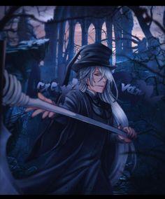 💀 The Undertaker { Adrian Crevan } 💀 Black Butler Undertaker, Black Butler Anime, Ciel Phantomhive, Anime Guys, Manga Anime, Anime Art, Shinigami, Black Buttler, Version Francaise