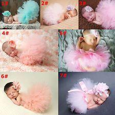 Cute Toddler Newborn Baby Girl Tutu Skirt & Headband Photo Prop Costume…
