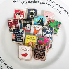 I feel like a kid in a sweet shop when I look at these pins!  So many favourites!By Jane MountHard Enamel, 25mm, butterfly clutch