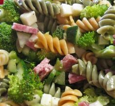 """Summer Everything Pasta Salad: """"An easy salad with lots of veggies and a great poppy seed dressing. Summer Pasta Salad, Summer Salads, Cooking Recipes, Healthy Recipes, Cooking Time, Kitchen Recipes, Pasta Salad Recipes, Pasta Meals, Easy Salads"""