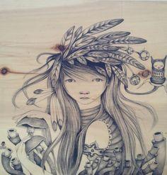 ilustración by ivana flores, via Behance