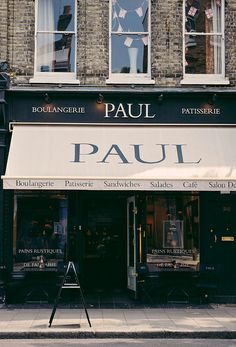 Paul in London. 'The history of PAUL is the story of one family's love of good food and passionate commitment to the best traditional baking methods over more than 100 years. In 1889, a small local bakery opened in Croix near Lille in Northern France. Four generations later the PAUL name is known throughout France and, increasingly, around the world.'
