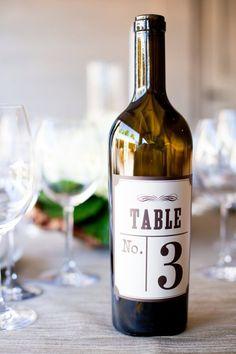 wine table numbers