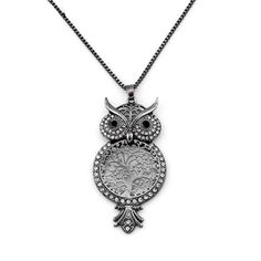 Best Long Sweater Owl Chain Necklace Cheap(Rhinestone Animal Owl Big Pendant) Cheap Necklaces, Girls Necklaces, Jewelry Necklaces, Owl Necklace, Pendant Necklace, Long Sweaters, Sterling Silver Necklaces, Pendants, Chain