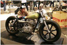 I want for bike nights Bobber Bikes, Cool Motorcycles, Honda Scrambler, Yamaha, Bad Boys Toys, Boy Toys, Sr 500, Motorized Bicycle, Custom Bikes