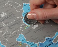 Scratch map of europe is the best gift for those who are scratch off europe map sciox Gallery
