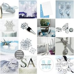 Ideas for creating a Winter Wonderland Wedding (decorations, palette, menu, flowers, favors)