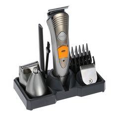Kemei 7 in 1 Electric Shavers Razor Men Shaving Machine Rechargeable Nose Ear Hair Trimmer Hair Clipper Afeitadora EU Plug