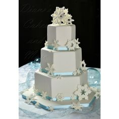 Winter Wedding Cakes found on Polyvore