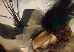 Golden Dragon Dreams  Feathered Hair by TheFascinatingWench, $32.00