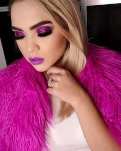 125 purple eyeshadow looks makeup ideas increase charm – page 18 Glam Makeup Look, Sexy Makeup, Makeup Geek, Beauty Makeup, Makeup Looks, Hair Makeup, Hair Beauty, Purple Eyeshadow Looks, Nikkie Tutorial