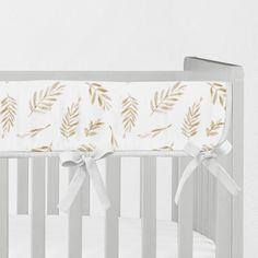 Your place to buy and sell all things handmade Crib Rail Guard, Crib Rail Cover, Neverland Nursery, Bohemian Nursery, Nursing Pillow Cover, Golden Leaves, Nursery Neutral, Crib Sheets