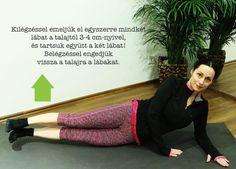 8 gyakorlat derékfájás ellen a mindennapokra Pilates, Letter Board, Lettering, Workout, Sports, Plank, Pop Pilates, Hs Sports, Work Out