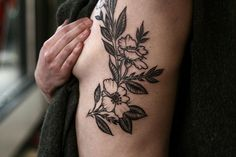alice carrier tattoos | floral tattoo by alice carrier