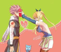 nalu...Poor natsu, if lucy ever got the courage to do this, she might do this or her special lucy kick