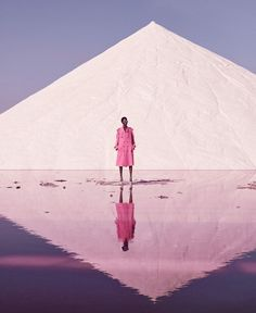 <p>The beautiful Aamito Lagum is shot for the Harper's Bazaar December issue by Daniel Riera in the mesmerizing ambience of those Spanish pink salt fields. I'd like to point as well the gorgeous